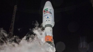 "launching the satellite ""Eye of the Falcon"" into space from the French ""Guyana"" station on the northern coast of South America, with the Russian ""Soyuz"" missile"