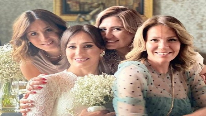 Hala Shiha's wedding photos and Moez Masoud