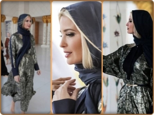 Ivanka Trump at the Sheikh Zayed Mosque