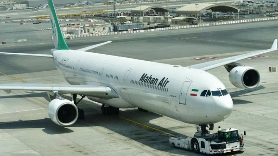 Israel and the United States have long accused Mahan Air of transporting weapons to Iranian-linked fighters in Syria and elsewhere.