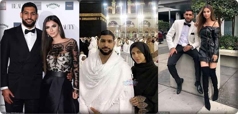 Ferial Maqdum, the wife of Amir Khan, becomes distraught after she performs Umrah