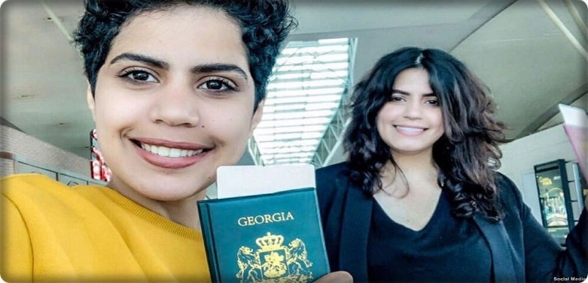 The two Saudi sisters, Maha and Wafaa al-Subaie, fly to a third country
