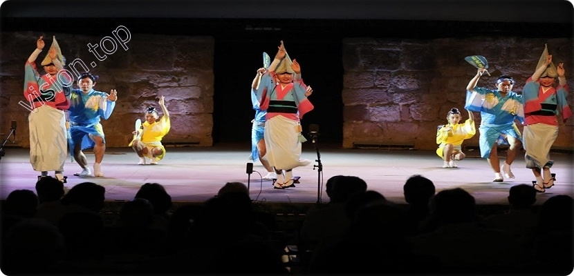 """Awa Dance"" and a part of Japanese culture at the Carthage Theater"