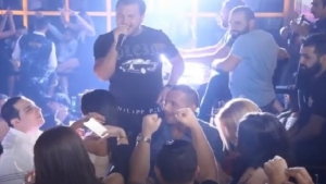 A concert by Wadih Al-Sheikh turns into a battle with guns